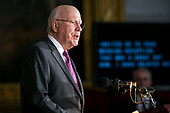"Senator Patrick ""Pat"" Leahy, a Democrat from Vermont, speaks during a congressional Gold Medal ceremony for former Senator Bob Dole, at the U.S. Capitol, in Washington D.C., U.S., on Wednesday, Jan. 17, 2018. Photographer: Al Drago/Bloomberg<br /> Credit: Al Drago / Pool via CNP"