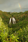 Rainbow over Opaeka'a Falls, Kauai, Hawaii