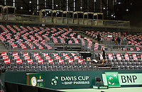 Switserland, Genève, September 18, 2015, Tennis,   Davis Cup, Switserland-Netherlands, <br /> Photo: Tennisimages/Henk Koster