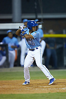 Kevon Jackson (11) of the Burlington Royals at bat against the Johnson City Cardinals at Burlington Athletic Stadium on September 3, 2019 in Burlington, North Carolina. The Cardinals defeated the Royals 7-2 to even Appalachian League Championship series at one game a piece. (Brian Westerholt/Four Seam Images)