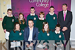 Honoured at the Killorglin Community College awards on Thursday evening was front row l-r:Saoirse Mangan, Jerry Clifford, Dearbhla Brennan, Ricky Flaherty. Back row: Jerry Horgan, Denise Cronin, Kieran Brosnan, Donal Moore and Michael O'Shea..