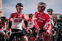 buddies Jasper Stuyven (BEL/Trek-Segafredo) &amp; Tim Wellens (BEL/Lotto-Soudal) ahead of the race<br /> <br /> 27th Challenge Ciclista Mallorca 2018<br /> Trofeo Campos-Porreres-Felanitx-Ses Salines: 176km