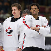 Leland Irving (Swan Hills, AB - Everett Silvertips), Kenndal McArdle (Burnaby, BC - Vancouver Giants) - Team Canada (gold), Team Russia (silver) and Team USA line up for the individual awards and team medal presentations following Team Canada's 4-2 victory over Team Russia to win the gold in the 2007 World Championship on Friday, January 5, 2007 at Ejendals Arena in Leksand, Sweden.