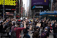 NEW YORK, NEW YORK - JUNE 2: Protestors kneel during a protest against the death of George Floyd on June 2, 2020 in New York. The protests spread across the country in at least 30 cities across the United States, over the death of unarmed black man George Floyd at the hands of a police officer, this is the latest death in a series of police deaths of black Americans. (Photo by Stephen Ferry /VIEWpress via Getty Images)