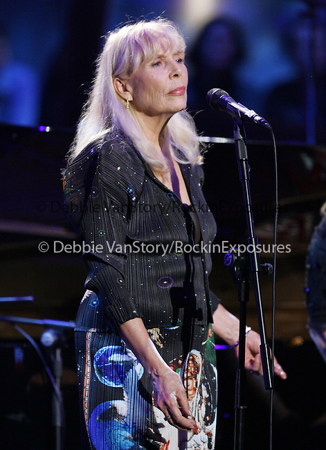 Joni Mitchell performs live at The Nissan Live Sets on Yahoo! Music held at Fox Studios in Century City, California on March 20,2008                                                                     Copyright 2007 Debbie VanStory/RockinExposures