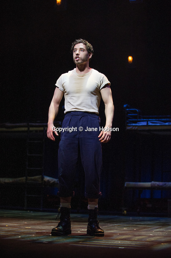 London, UK. 14.02.2014. Regan de Wynter Ltd, in association with Hilary A Williams present Gilbert and Sullivan's HMS PINAFORE, at the Hackney Empire from Friday 14th to Sunday 23rd February, prior to an 8 week UK tour. Picture shows: Keith Jack (Ralph). Photograph © Jane Hobson.
