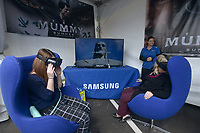 NWA Democrat-Gazette/BEN GOFF @NWABENGOFF<br /> Guests try Samsung virtual reality products Thursday, May 4, 2017, during the Bentonville Film Festival.