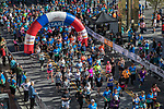 Participants start the 10K portion of the Downtown River Run on Sunday, April 30, 2017 in Reno, Nevada.