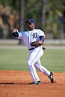 Detroit Tigers Hector Martinez (70) during a Minor League Spring Training intrasquad game on March 24, 2018 at the TigerTown Complex in Lakeland, Florida.  (Mike Janes/Four Seam Images)