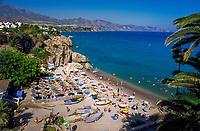 Spain, Andalusia, Costa del Sol, Nerja: beach, Playa de Calahonda   Spanien, Andalusien, Provinz Málaga, Costa del Sol, Nerja: Strand, Playa de Calahonda