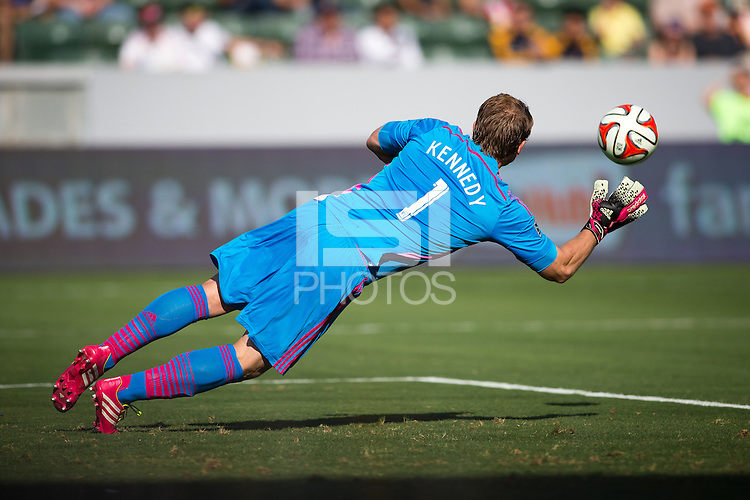 Carson, California - Sunday, June 8, 2014: The LA Galaxy and Chivas USA played to a 1-1 tie in a Major League Soccer (MLS) match at StubHub Center stadium.