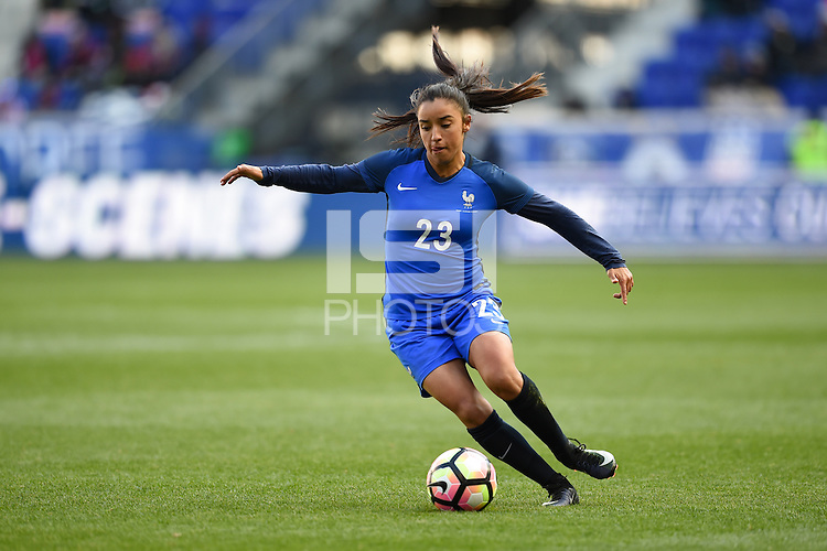 Harrison, NJ - Saturday, March 04, 2017: Sakina Karchaoui during a SheBelieves Cup match between the women's national teams of France (FRA) and Germany (GER) at Red Bull Arena.