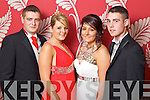 Pictured at the Causeway School Debs in Ballyroe on Wednesday night: Jonathan Regan, Rachel Boyle, Niamh Tynan and John Mike Carroll.