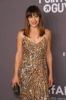 NEW YORK, NY - FEBRUARY 6: Milla Jovovich arriving at the 21st annual amfAR Gala New York benefit for AIDS research during New York Fashion Week at Cipriani Wall Street in New York City on February 6, 2019. <br /> CAP/MPI/JP<br /> &copy;JP/MPI/Capital Pictures