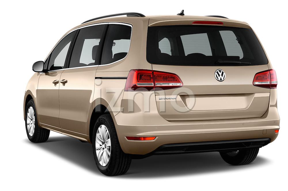 Car pictures of rear three quarter view of 2016 Volkswagen Sharan Confortline 5 Door Minivan Angular Rear