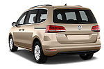 Car pictures of rear three quarter view of 2016 Volkswagen Sharan Confortline 5 Door Minivan Angular Rear