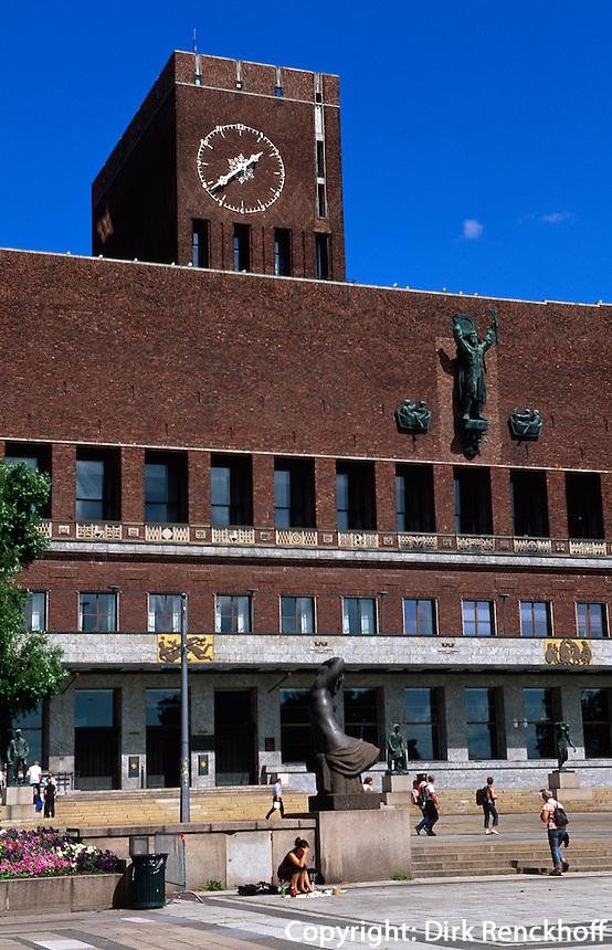 Norwegen, Oslo, Rathaus (Rådhuset)