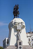 Lima, Peru.  Equestrian Statue of Jose de San Martin, Peruvian National Hero. Plaza San Martin.