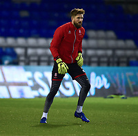 Lincoln City's Josh Vickers during the pre-match warm-up<br /> <br /> Photographer Andrew Vaughan/CameraSport<br /> <br /> The EFL Sky Bet League Two - Oldham Athletic v Lincoln City - Tuesday 27th November 2018 - Boundary Park - Oldham<br /> <br /> World Copyright © 2018 CameraSport. All rights reserved. 43 Linden Ave. Countesthorpe. Leicester. England. LE8 5PG - Tel: +44 (0) 116 277 4147 - admin@camerasport.com - www.camerasport.com