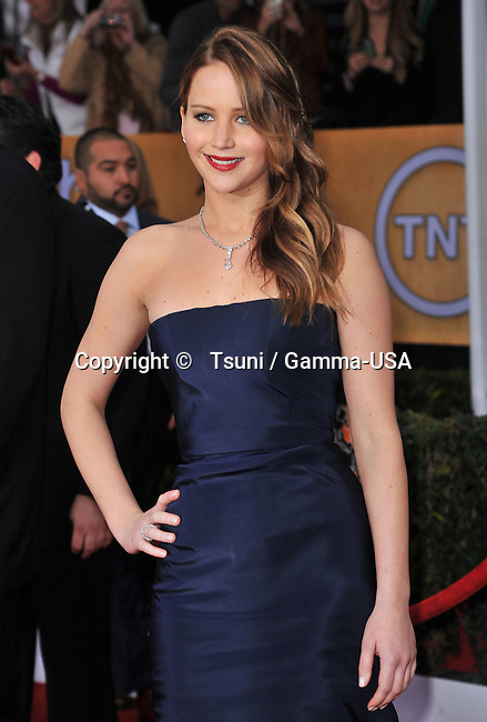 Jennifer Lawrence   the 19th Ann. SAG Awards 2013 at the Shrine Auditorium In Los Angeles.