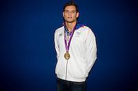 Florent Manaudou (fra).London 04/08/2012 .London 2012 Olympic games  - French House - Olimpiadi Londra 2012 - Casa Francia - I medagliati.Foto JB Autissier / Panoramic / Insidefoto.ITALY ONLY..