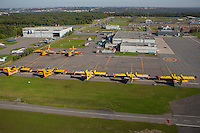 CL215, CL215T and CL415 water bombers are parked at the SOPFEU base at the Quebec city Jean Lesage airport in Quebec city Thursday September 3, 2015.