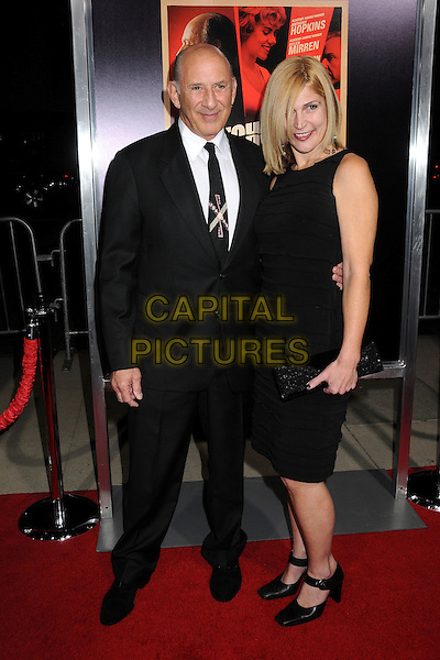 "Richard Portnow & guest.""Hitchcock"" Los Angeles Premiere held at the AMPAS Samuel Goldwyn Theater, Beverly Hills, California, USA..November 20th, 2012.full length black suit dress.CAP/ADM/BP.©Byron Purvis/AdMedia/Capital Pictures."