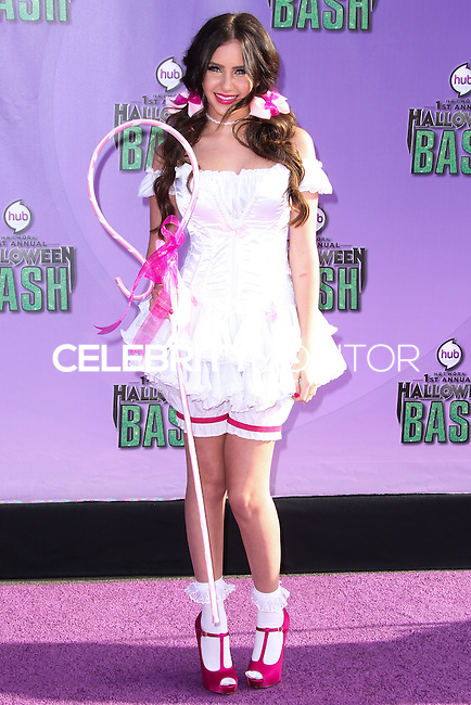 SANTA MONICA, CA - OCTOBER 20: Actress Ryan Newman arrives at Hub Network's 1st Annual Halloween Bash held at Barker Hangar on October 20, 2013 in Santa Monica, California. (Photo by Xavier Collin/Celebrity Monitor)