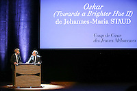 - NO TABLOIDS, NO SITE WEB - Winners Evening of the Prince Pierre of Monaco Foundation at the Opera Garnier, Monaco. H.S.H. Prince Albert II of Monaco and H.R.H. Princess Caroline of Hanover attend the ceremony and Princess Caroline gives two literary prizes : the Literary Prize to Adonis for his whole work and the 'Bourse de la DÈcouverte' to Paul Greveillac for his book 'Les 'mes Rouges'. Johannes-Maria Staud (winner of the 'Coup de coeur des juenes MÈlomanes' prize) with FrÈdÈric Mitterrand.