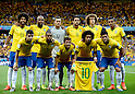 Brazil team group line-up (BRA),<br /> JULY 8, 2014 - Football / Soccer : FIFA World Cup 2014 semi-finals match between Brazil 1-7 Germany at Mineirao stadium in Belo Horizonte, Brazil.<br /> (Photo by FAR EAST PRESS/AFLO)