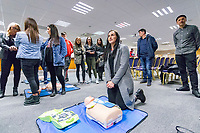 Wednesday 07 March 2018<br /> Pictured:  <br /> Re: Defibrillator Programme in Memory of local footballer Mitchell Joseph at The Liberty Stadium on March 7, 2018 in Swansea, Wales.