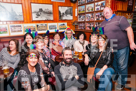 50th Birthday: Robert Carey, Tralee, centre back celebrating his 50th birthday with work colleagues at Mike the Pies Bar, Listowel on  Friday night last.