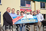 WINNER: Marian Monson from Ballyheigue was so happy to learn that she is this weeks buyKerry winner. From l-r were: Brendan Kennelly (Director of Advertising, Kerry's Eye), Neil Fitzgibbon, John Slattery, Marian Monson, Martin Lyons (Manager Clanmaurice Credit Union), Brian O'Shea, David Monson and Paul Fitzgibbon.