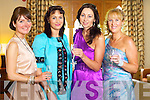 Ann Marie O'Leary, Camp, Marie Loughran, Tralee, Helen O'Sullivan Sheehan, Killarney and Claire Murphy, Banna at Kerry Fashion Weekend at the Brehon Hotel Killarney on Sunday.