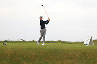 Ben Firth (ENG) on the 1st tee during Round 1of the Flogas Irish Amateur Open Championship 2019 at the Co.Sligo Golf Club, Rosses Point, Sligo, Ireland. 16/05/19<br /> <br /> Picture: Thos Caffrey / Golffile<br /> <br /> All photos usage must carry mandatory copyright credit (© Golffile | Thos Caffrey)