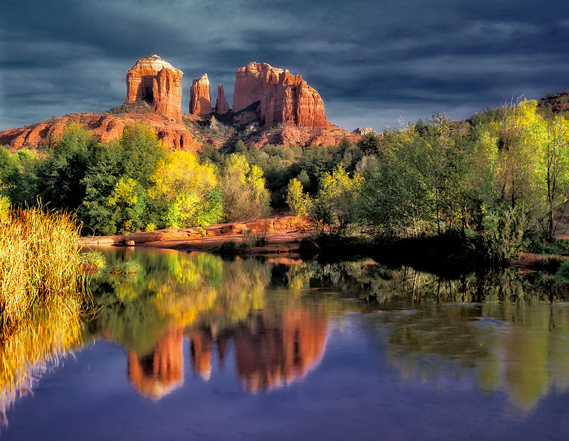 Cathedral Rock reflected in Oak Creek, Arizona