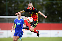 20170914 - TUBIZE ,  BELGIUM : Belgian Elke Van Gorp pictured during the friendly female soccer game between the Belgian Red Flames and European Champion The Netherlands , a friendly game in the preparation for the World Championship qualification round for France 2019, Thurssday 14 th September 2017 at Euro 2000 Center in Tubize , Belgium. PHOTO SPORTPIX.BE | DAVID CATRY