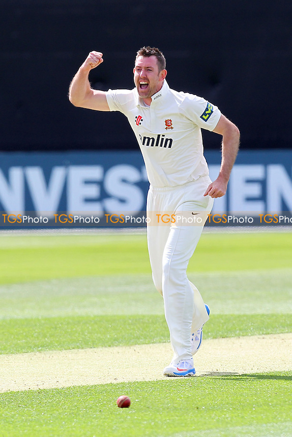 David Masters of Essex celebrates the wicket of Liam Dawson - Essex CCC vs Hampshire CCC - LV County Championship Division Two Cricket at the Essex County Ground, Chelmsford - 29/04/13 - MANDATORY CREDIT: Gavin Ellis/TGSPHOTO - Self billing applies where appropriate - 0845 094 6026 - contact@tgsphoto.co.uk - NO UNPAID USE.