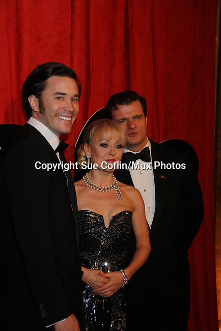 "Cast: Tom Pelphrey - Michael Cumptsy - Tracie Bennett of ""End Of The Rainbow"" as it opens on Broadway on April 2, 2012 at the Belasco Theatre, New York City, New York with the black-tie after is at the Plaza  (Photo by Sue Coflin/Max Photos)"
