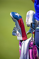 Gerina Piller's (USA) head covers on the practice green before during Sunday's final round of the 2017 KPMG Women's PGA Championship, at Olympia Fields Country Club, Olympia Fields, Illinois. 7/2/2017.<br /> Picture: Golffile | Ken Murray<br /> <br /> <br /> All photo usage must carry mandatory copyright credit (&copy; Golffile | Ken Murray)