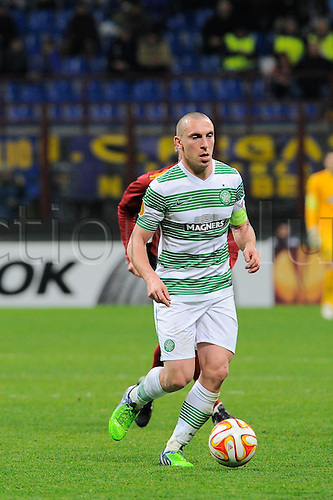26.02.2015. Milan, Italy.  Scott Brown of Celtic FC  in action during the Europa League soccer match between Inter Milan and Celtic FC at San Siro Stadium in Milan, Italy.