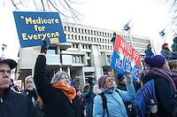 Save Affordable Care Act rally with MA Congressional delegation at Faneuil Hall Boston MA 1.15.17
