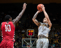 Justin Cobbs of California shoots the ball during the game against Fresno State at Haas Pavilion in Berkeley, California on December 14th, 2013.  California defeated Fresno State, 67-56.