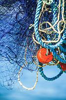 Fiskenät i Sandhamn i Stockholms skärgård