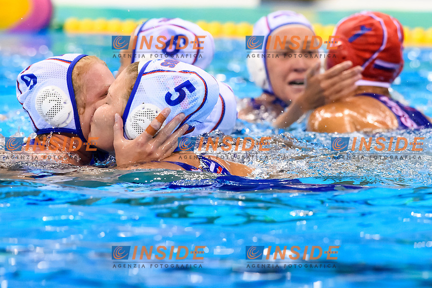Celebration Russia <br /> Rio de Janeiro 16-08-2016 Aquatic Stadium Waterpolo Quarter Finals <br /> RUSSIA RUS - SPAIN ESP <br /> Foto Andrea Staccioli/Deepbluemedia/Insidefoto