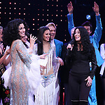 Stephanie J. Block, Teal Wicks, Michael Berresse and Cher during the Broadway Opening Night Curtain Call of 'The Cher Show'  at Neil Simon Theatre on December 3, 2018 in New York City.
