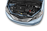Car Stock2015 Toyota Sienna Limited V6 8-Passenger 5 Door Mini Van Engine high angle detail view