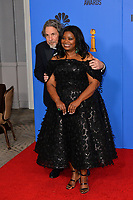 LOS ANGELES, CA. January 06, 2019: Peter Farrelly & Octavia Spencer at the 2019 Golden Globe Awards at the Beverly Hilton Hotel.<br /> Picture: Paul Smith/Featureflash
