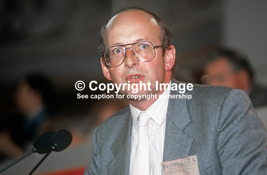 Nick Rainsford, MP, Labour Party, UK, speaking, annual conference, September 1986, 19860923NR1<br />