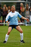 London, UK on Sunday 31st August, 2014. Louis Spence  during the Soccer Six charity celebrity football tournament at Mile End Stadium, London. during the Soccer Six charity celebrity football tournament at Mile End Stadium, London.